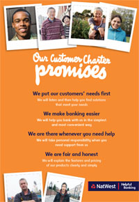 NatWest Customer Charter poster