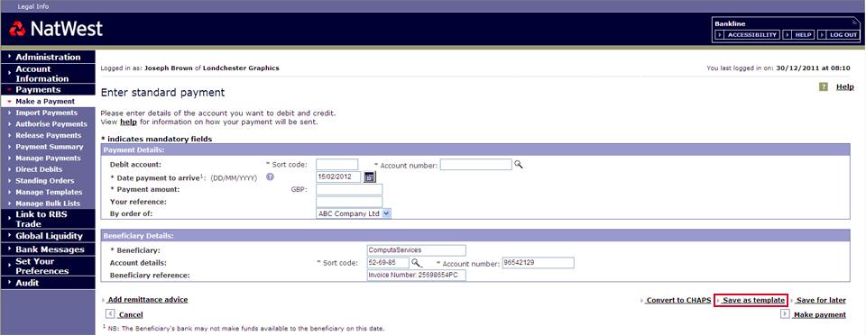 Bankline user guide   NatWest