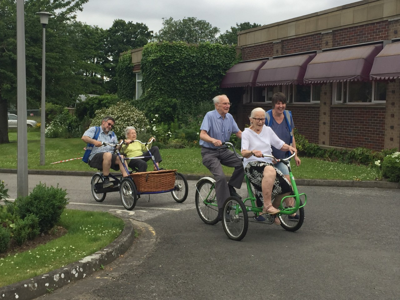 elderly people learning to cycle