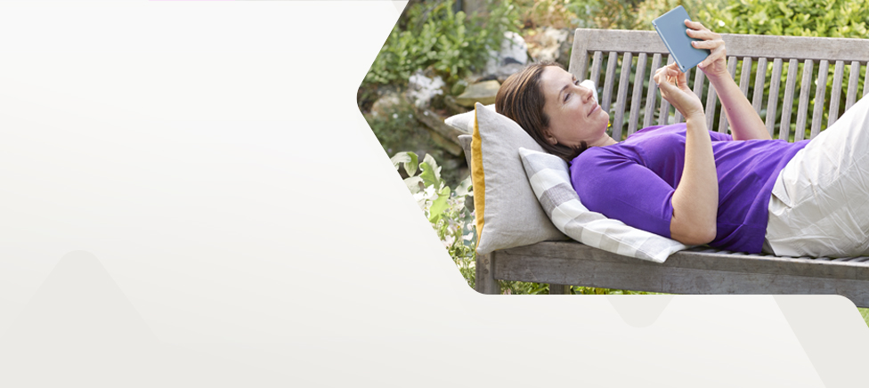 Woman on garden bench researching how to remortgage to NatWest